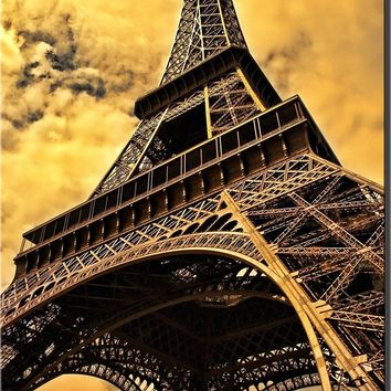 Eiffel Tower in Paris France Wall Decor Picture on Acrylic , Ready to Hang!.