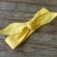 Yellow Skinny Headband Teen Women Hair Accessory