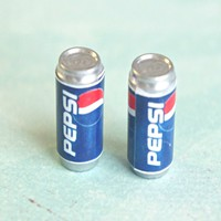 Pepsi Soda Can Earrings