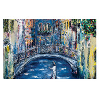 "Josh Serafin ""Venice"" Travel Italy Decorative Door Mat"