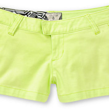 Volcom Women's Frochickie Lime Green Shorts