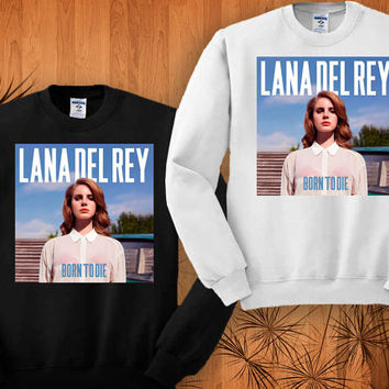lana del rey sweatshirt black and white size S - 3XL