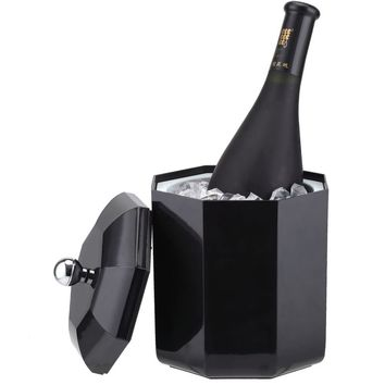 Smad Dualrable ABS Practical Ice Bucket Container Mini Champagne Can Beverage Ice Keeper Portable Wine Cooler Chiller