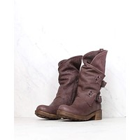 coolway - Alida leather motorcycle boots - dark brown