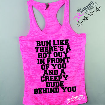 Run Like There's a Hot Guy in Front of You Funny Womens Tank