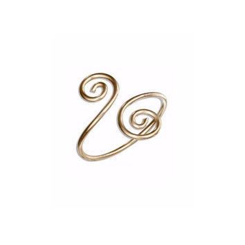 Ring - 12 Karat Gold Filled double Spiral Bypass Ring