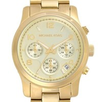 Michael Kors 'Runway' Chronograph Watch, 39mm - Gold
