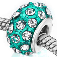 Blue Zircon With April Birthstone Clear Crystal Style Pandora Beads, Crystal Beads, Clear Beads | Pugster.com