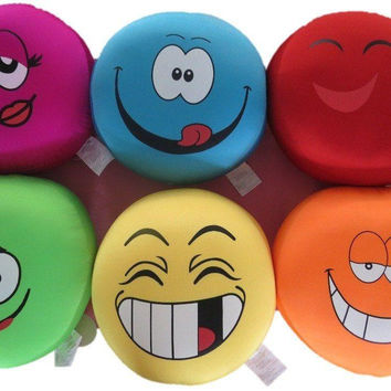 Tache Squishy Crazy Faces Microbead Cushions Throw Pillows