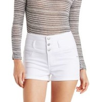 White High Rise Shorts by Charlotte Russe