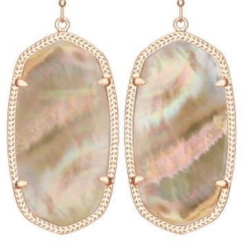 Danielle Rose Gold Earrings in Brown Pearl - Kendra Scott Jewelry