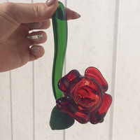 Rose Sherlock Glass Pipe