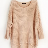 OVERSIZE COZY KNIT SWEATER