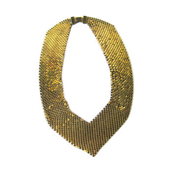 Whiting and Davis Mesh Necklace / Vintage Jewelry / Womans Gift / Gift Jewelry / Costume Jewelry