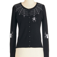 ModCloth Short Length Long Sleeve Itsy Bitsy Rider Cardigan