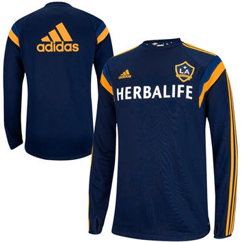 adidas LA Galaxy Training Long Sleeve Performance T-Shirt - Navy Blue