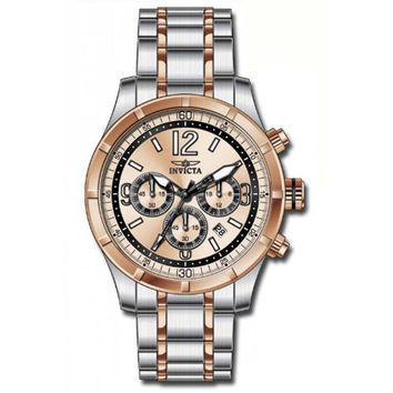 Invicta 11377 Men's Specialty Rose Gold Dial Two Tone Steel Chronograph Watch