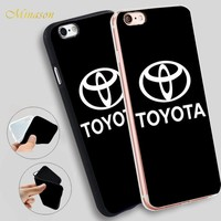 Minason Toyota Car Logo Soft TPU Slim Silicone Phone Case Cover for iPhone X 5 SE 5S 7 6 6S 8 Plus