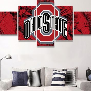 Ohio State Buckeye College Football Basketball Wall Art Canvas Print Poster Framed UNframed