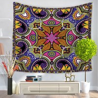 Indian Mandala Printed Tapestry Wall Hanging Hippie Throw Bohemian Bedspread Beach Yoga Mat Throw Towel Decor Mandala Tapestry