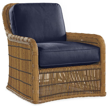 Rafter Lounge Chair, Navy, Outdoor Club Chairs