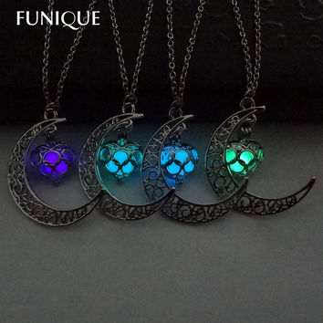 Luminous Glow In the Dark Sailor Moon Heart Necklaces & Pendants