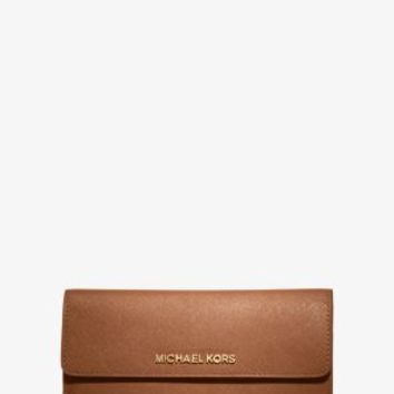 Jet Set Travel Slim Saffiano Leather Wallet | Michael Kors