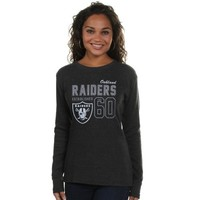 Oakland Raiders Women's Athletic Glitz Thermal - Charcoal