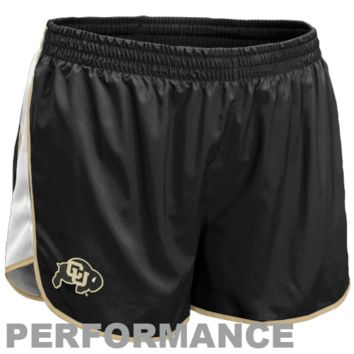 Nike Colorado Buffaloes Youth Girls Tempo Performance Shorts - Black - http://www.shareasale.com/m-pr.cfm?merchantID=7124&userID=1042934&productID=528449253 / Colorado Buffaloes