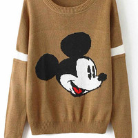 Cupshe Baby Come Back Cartoon Printing Sweater