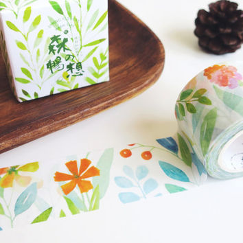 Spring Flowers washi masking tape mt