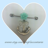 Pretty rose and anchor industrial bar