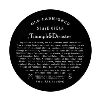 Old Fashioned Shave Cream Jar 100 ml by Triumph&Disaster