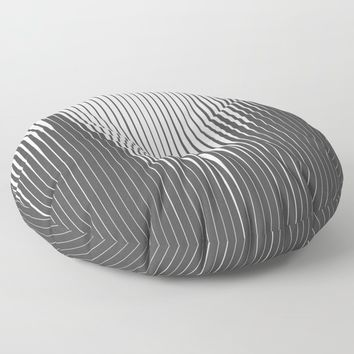 Grays Striped Floor Pillow by duckyb