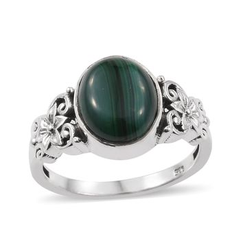Artisan Crafted African Malachite Sterling Silver Ring