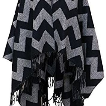 7 Seas Republic Women's Chevron Print Fringe Fashion Wrap