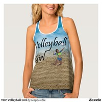 TOP Volleyball Girl Tank Top