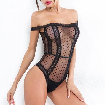 Hollow Out  See Through Chemise Teddies Lingerie