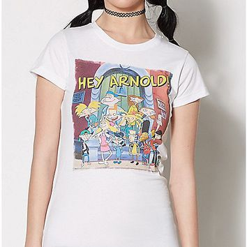 Hey Arnold And Friends T Shirt - Spencer's