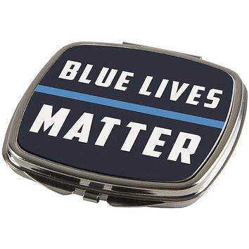 Police Blue Lives Matter Thin Blue Line Compact