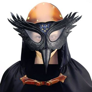 LMFON Vintage Steampunk Plague Bird Beak Doctor Masks Gothic Masquerade Ball Masks Retro Rock Punk Mask Halloween Cosplay Costume Prop