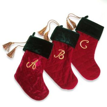 cacdcc2e3ca4 Harvey Lewis™ Monogram Initial Christmas Stocking Made with Swarovski®  Elements