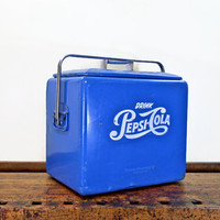 Vintage Pepsi Cooler, Pepsi Cola Cooler, Coolbox, Ice Chest, Pepsi Blue, 1950s, Louisville