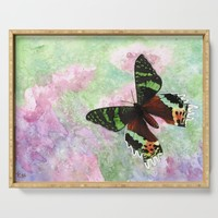 Urania Ripheus Butterfly Serving Tray by savousepate
