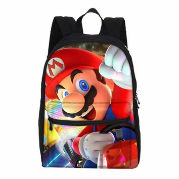 Super Mario party nes switch VEEVANV Hot Anime  Backpacks For Boys Girls Canvas Casual Bagpacks Gift Mochila primary School Kids Cartoon Bookbag AT_80_8