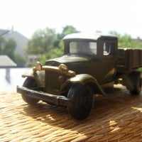 Soviet Vintage Car Model GAZ-AA - Khaki colour - Made in USSR - Collectable