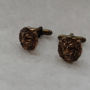 Wildlife King of the Jungle Lion face  cufflinks