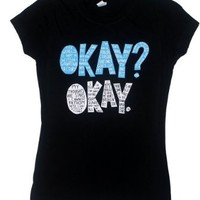 Okay? Okay. - The Fault In Our Stars Juniors T-shirt: Junior XL - Black