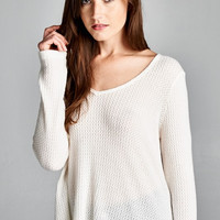 Cozy Cabin Thermal Top in Ivory