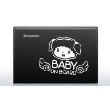 Baby on Board (Style # 2) Automobile Car Window Decal Tablet PC Sticker Automobile Window Wall Laptop Notebook Etc. Any Smooth Surface